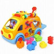 Hola - Jucarie pentru sortat si stivuit Camion , Cu sunete, Cu lumini, Cu forme, Multicolor