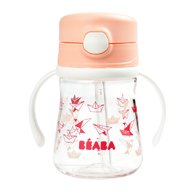 Beaba - Cana cu pai 240 ml, Light Pink
