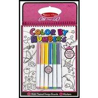 Melissa and Doug Carnet de colorat pe numere pentru fetite