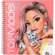 Depesche - Carte de colorat cu pisici Top Model
