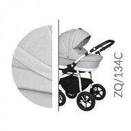Baby Merc - Carucior 3 in 1 Q ZQ134C , Cadru alb, Alb/Gri