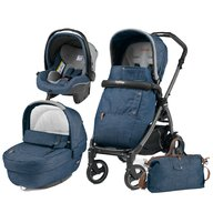 Peg Perego - Carucior 3 in 1, Book Plus S, Black, Completo Elite, Urban Denim
