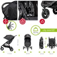 Baby Jogger - Carucior City Mini GT Sistem 2 in 1, Charcoal Denim
