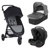 Baby Jogger - Carucior City Mini GT2, sistem 3 in 1, Slate
