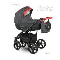 Camarelo - Carucior copii 2 in 1 Baleo 2019 Ba-7, Negru/Rosu