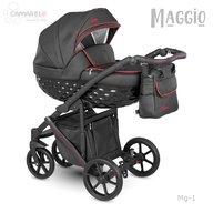 Camarelo - Carucior copii 2 in 1 Maggio Mg-1, Negru/Rosu