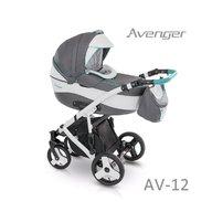 Camarelo - Carucior copii 3 in 1 Avenger Standard Av-12, Gri/Alb