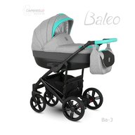 Camarelo - Carucior copii 3 in 1 Baleo 2019 Ba-3, Turcoaz/Gri