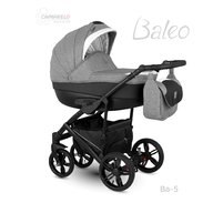 Camarelo - Carucior copii 3 in 1 Baleo 2019 Ba-5, Gri/Negru