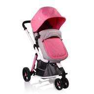 Cangaroo - Carucior copii 3 in 1 Sarah , Grey and Pink