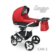 Camarelo - Carucior copii 3 in 1 Carera New Can-1, Rosu