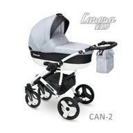 Camarelo - Carucior copii 3 in 1 Carera New Can-2, Gri deschis
