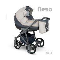 Camarelo - Carucior copii 3 in 1 Neso Ne-3, Bej/Negru