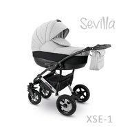 Camarelo - Carucior copii 3 in 1 Sevilla Xse-1, Gri/Negru