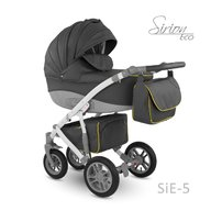 Camarelo - Carucior copii 3 in 1 Sirion Eco SiE-5, Gri inchis