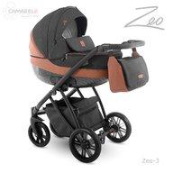 Camarelo - Carucior copii 3 in 1 Zeo zeo-3, Negru/Maro