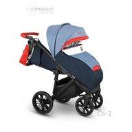 Camarelo - Carucior copii Cone Sport 2019 Co-2, Albastru/Rosu