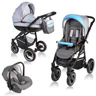 Vessanti - Carucior Crooner 3 in 1 , Blue/Gray