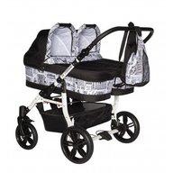 Pj Baby - Carucior gemeni Pj Stroller 2 in 1 Black
