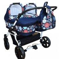 Pj Baby - Carucior gemeni Pj Stroller 3in1, Flowers