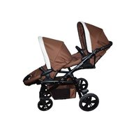 Pj Baby - Carucior gemeni Pj Stroller Lux 2in1, Brown
