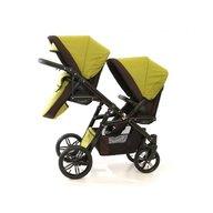 Pj Baby - Carucior gemeni Pj Stroller Lux 2in1, Khaki