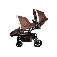Pj Baby - Carucior gemeni Pj Stroller Lux 3in1, Brown