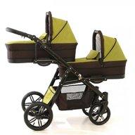 Pj Baby - Carucior gemeni Pj Stroller Lux 3in1, Khaki