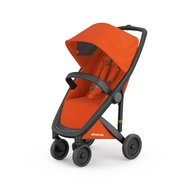 Greentom - Carucior Classic Upp, 100% ecologic, Black Orange