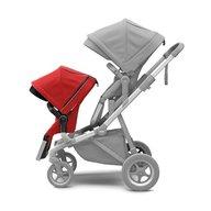 Thule - Carucior Sleek pentru 2 copii, Energy Red