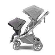 Thule - Carucior Sleek pentru 2 copii, Grey Melange