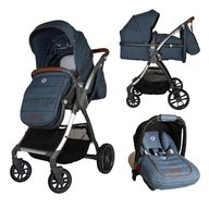 Coccolle - Carucior transformabil 3 in 1 Acero Jeans
