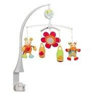 Brevi Soft Toys - Carusel Muzical Vacuta, Soricel, Bidoane cu lapte