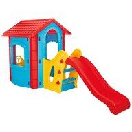 Pilsan - Casuta pentru copii Happy House  Cu tobogan , Albastru
