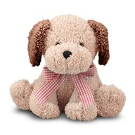 Melissa & Doug Catel Din Plus Cu Fundita Golden Puppy