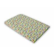 KidsDecor - Cearceaf cu elastic Mozaic Imprimat, Cu patratele din Bumbac, 120x70 cm