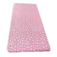 Deseda - Cearsaf cu elastic pe colt cu imprimeu Stelute pe roz-120*60 cm