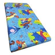 Deseda - Cearsaf cu elastic roata cu imprimeu Aiurila albastru-140*70 cm
