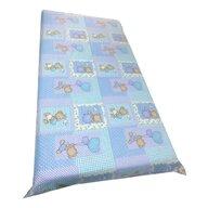 Deseda - Cearsaf cu elastic roata cu imprimeu Ursuleti albastri-120*60 cm