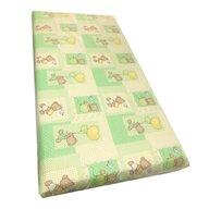 Deseda - Cearsaf cu elastic roata cu imprimeu Ursuleti pe verde-120*60 cm