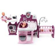 Smoby - Centru de ingrijire pentru papusi Baby Nurse Doll`s Play center cu 23 accesorii, Mov