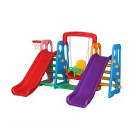 Million Baby - Centru de joaca 4 in 1 Happy Slide, Multicolor