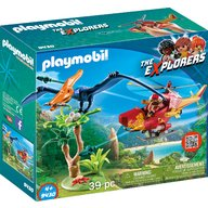 Playmobil - Cercetatori - Elicopter si Pterodactyl