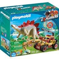 Playmobil - Cercetatori - Masina de teren si Stegosaurus