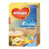 Milupa - Cereale cu lapte, Vise Placute 7 cereale cu lapte si 4 fructe, 250g, 6luni+