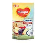 Milupa - Cereale fara lapte, Buna dimineata cereale mere si prune, 180g, 8luni+