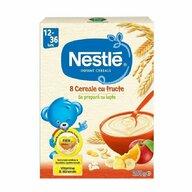 Nestle - Cereale pentru copii, 8 cereale cu fructe, 250g