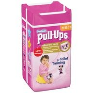 Chilotei de tranzitie Huggies Pull-Ups masura 4/S Girl 16 buc, 8-15 kg