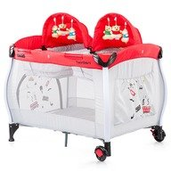 Chipolino Patut pliabil Twin Stars red