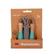 MamaMemo - Coarda sarit cu manere din lemn FSC, 3+ turquoise,